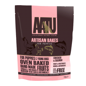 AATU Artisan Bakes For Puppies - Chicken & Salmon 150g
