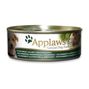 Applaws Dog Chicken Breast With Beef Liver And Vegetables 156g