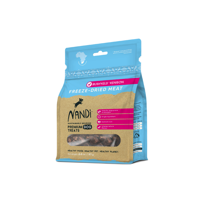 Nandi Bushveld Venison Freeze-Dried Treats 57g