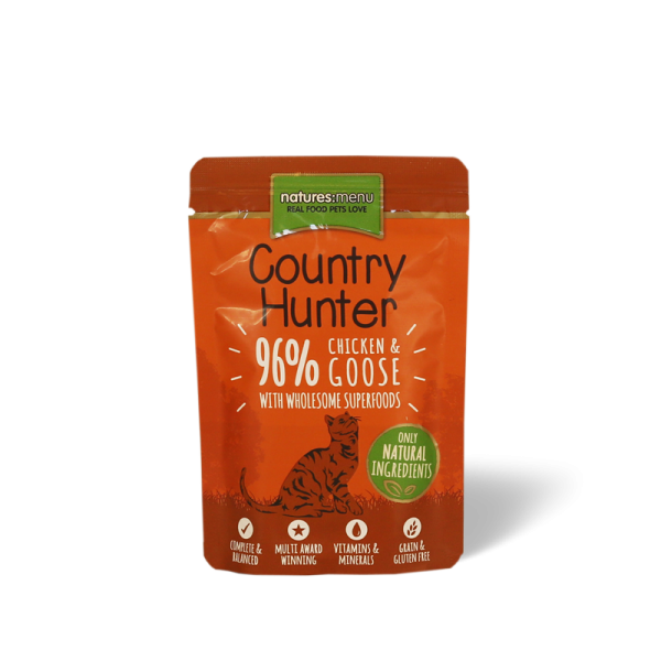 Natures Menu Country Hunter Chicken and Goose Cat 85g Pouch