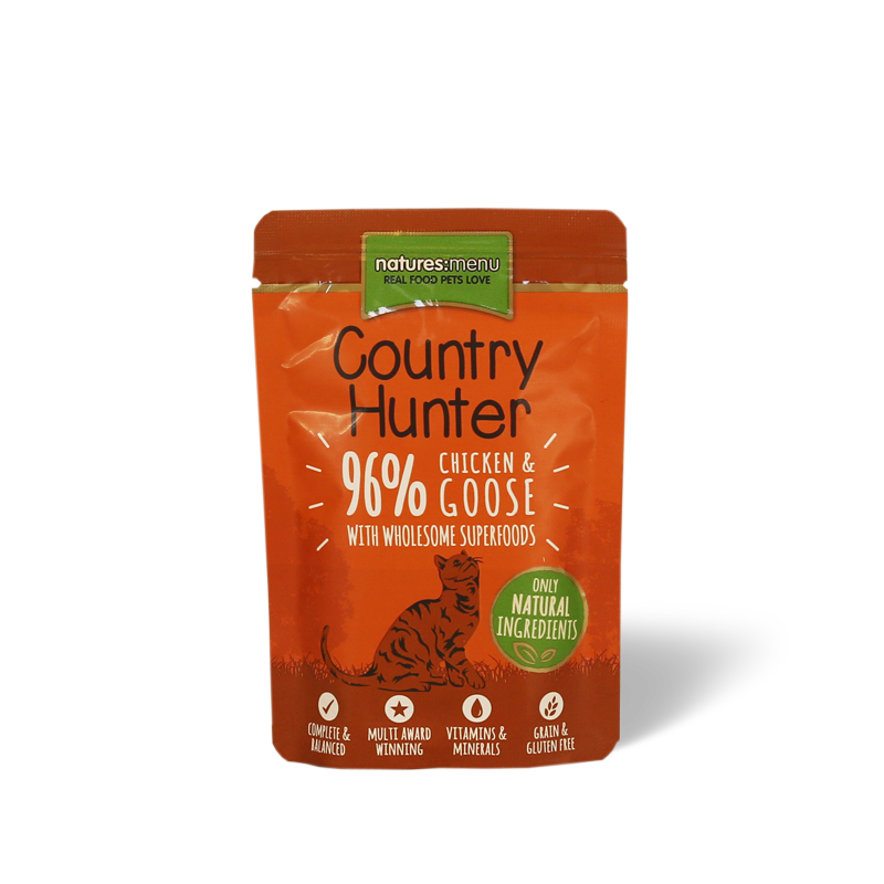Natures Menu Country Hunter Cat - Chicken and Goose 85g