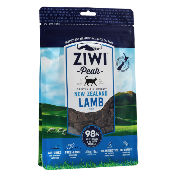 Ziwi Peak Air-Dried Lamb For Cats 400g - Temporarily Unavailable