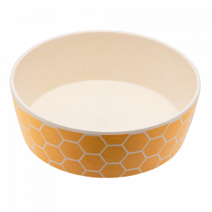 Beco Classic Bamboo Dog Feeding & Water Bowl, Honeycomb