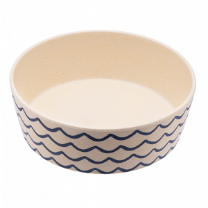 Beco Classic Bamboo Dog Feeding & Water Bowl, Ocean Waves
