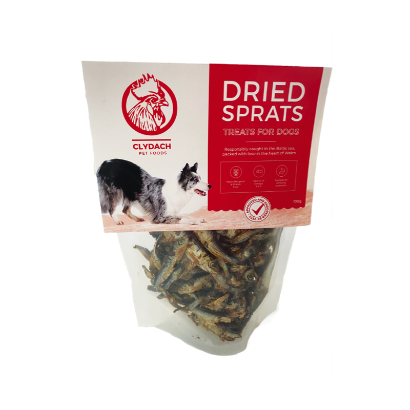 Clydach Farm Dried Sprats 100gClydach Farm Dried Sprats 100g