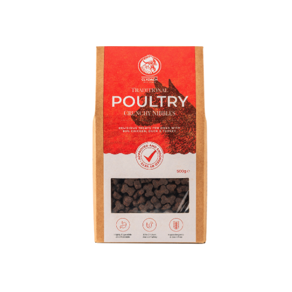 Clydach Poultry Nibbles 500g